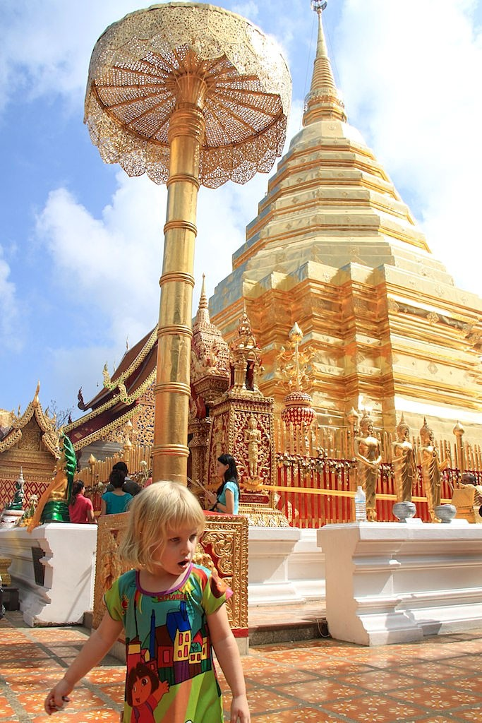 Hayley takes in the sights in Chiang Mai, northern Thailand.