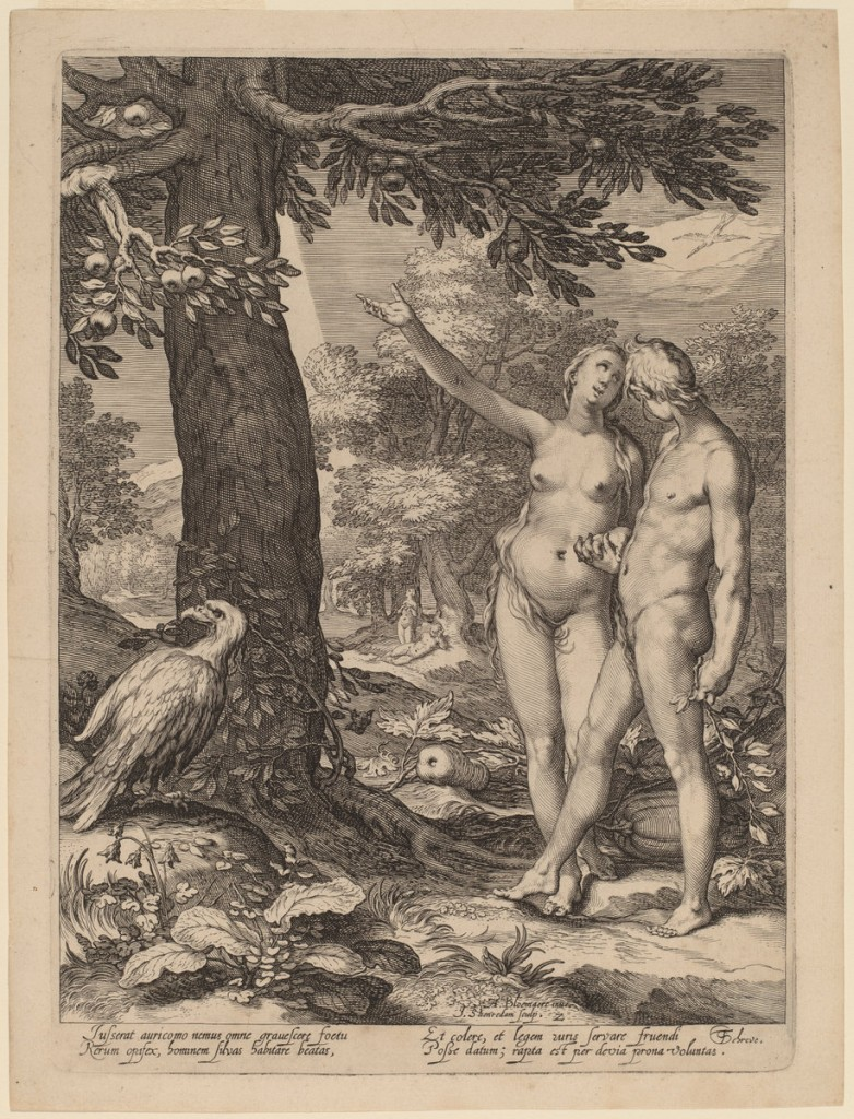 """Ada and Eve before the Tree of Knowledge"" by Jan Pietersz, courtesy of the National Gallery of Art"